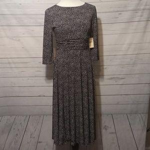 ColdWater Creek 3/4 sleeve Knit dress Petite 8